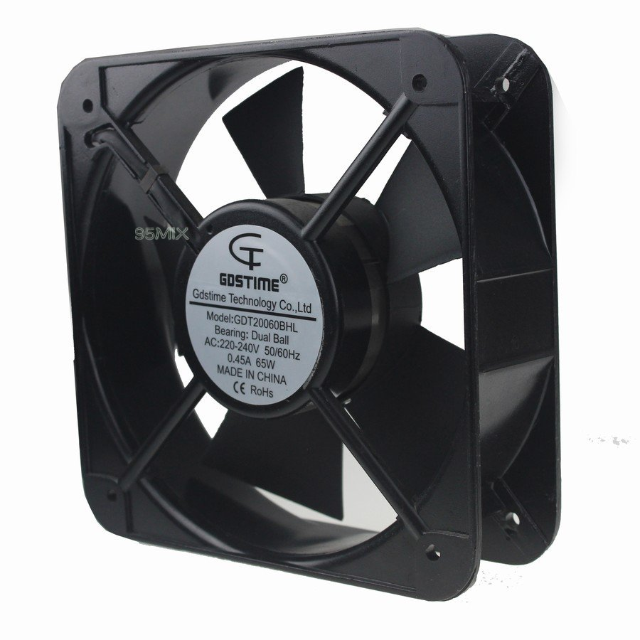 20 Axial Fan : B ac v a mm metal housing