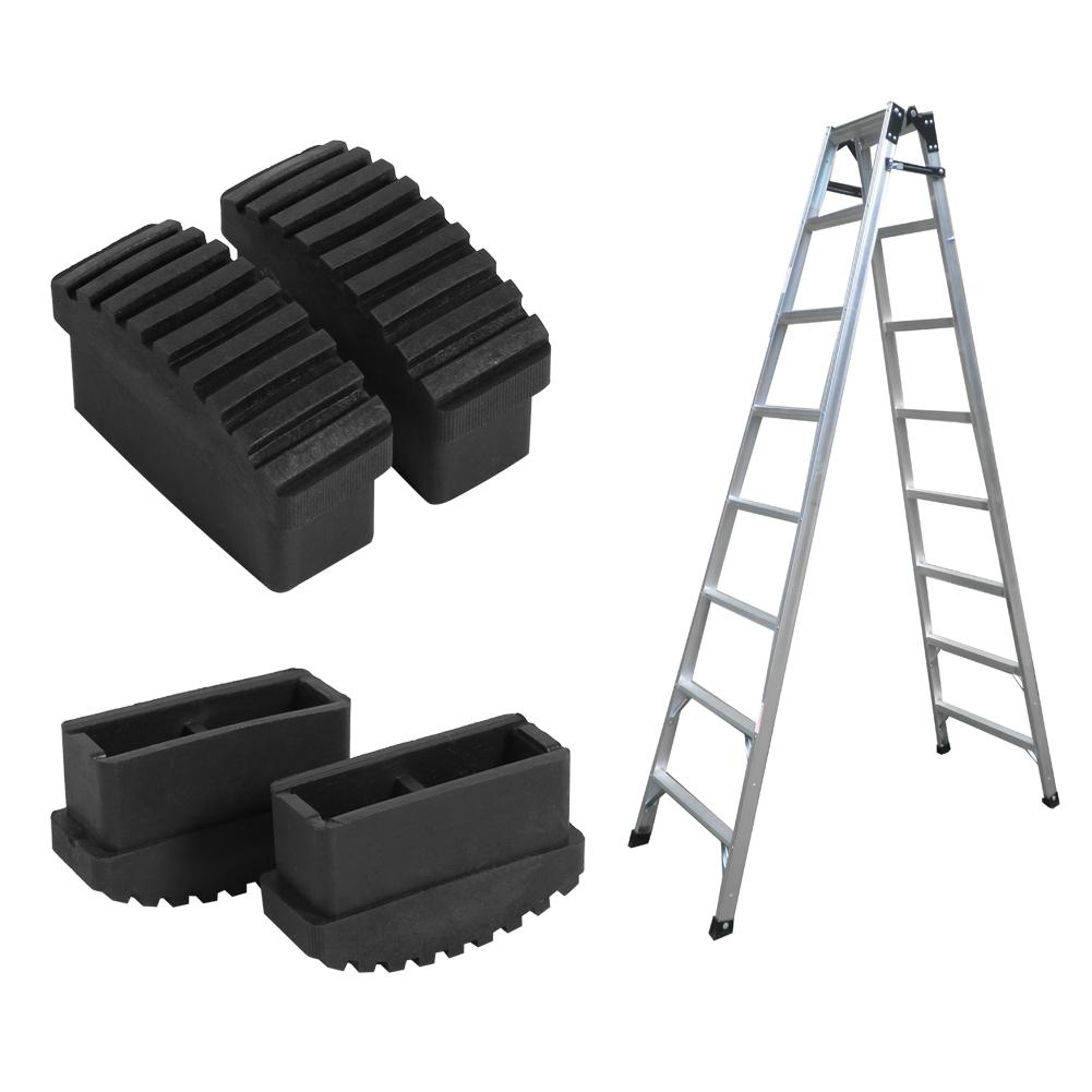 2pcs Rubber Non Slip Replacement Part Step Ladder Feet