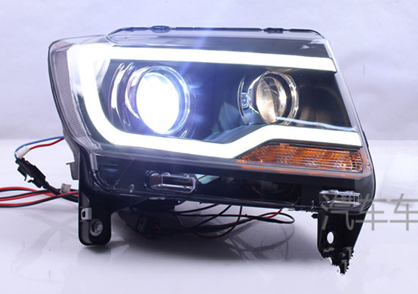 for jeep compass 2007 2015 year led strip headlights bi. Black Bedroom Furniture Sets. Home Design Ideas