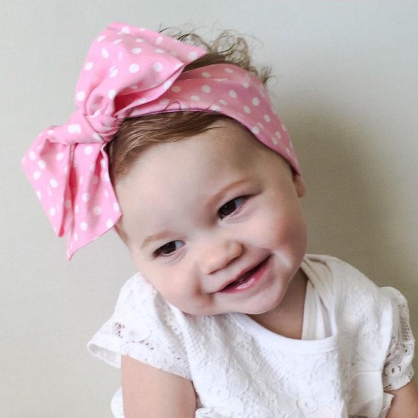Details about Children Girls Cute Hair Big Bow Headband Hair Band Dot Hair  Accessories 7522b0b3f67