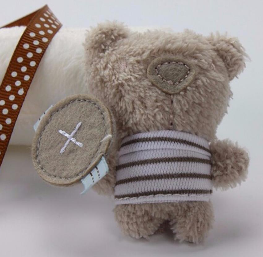 Kids Baby Crib Cot Pram Bed Stroller Hanging Plush Toy Rabbit Bear Bell /& Music