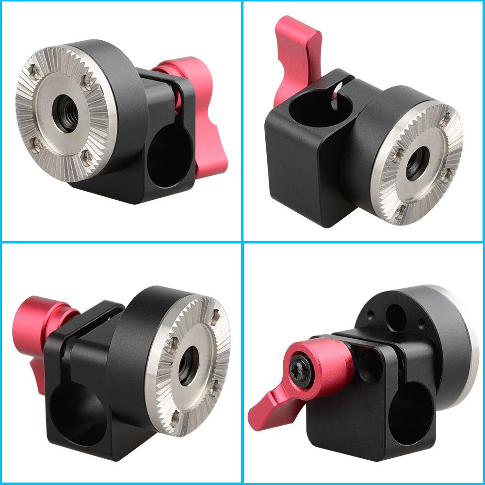Mm single rod clamp arri rosette lock for dslr evf