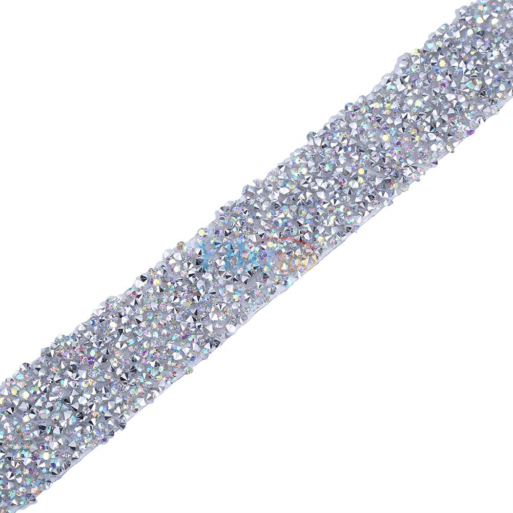 Rhinestone Bands: Crystal Diamante Rhinestone Banding Silver Mesh Trim DIY
