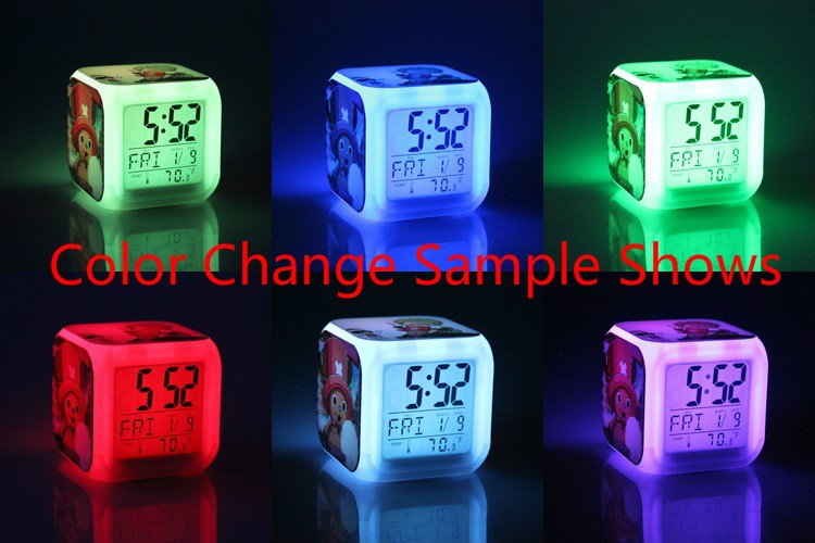 Home Decor Clocks Confident Japan Anime Inuyasha Higurashi Kagome Seven Color Change Digital Alarm Clock Gifts
