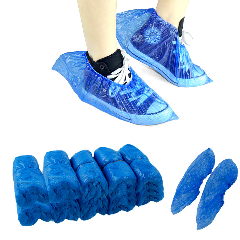 40x couvre chaussures jetable m dical tanche plastique surchaussures shoe cover ebay. Black Bedroom Furniture Sets. Home Design Ideas