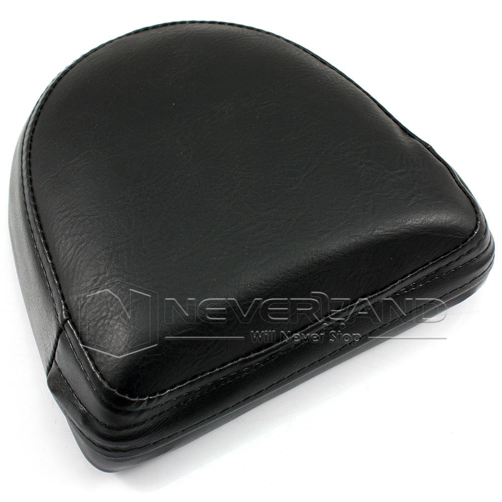 1x Motorcycle Sissy Bar Backrest Black Cushion Pad For Harley Choppers Universal Ebay