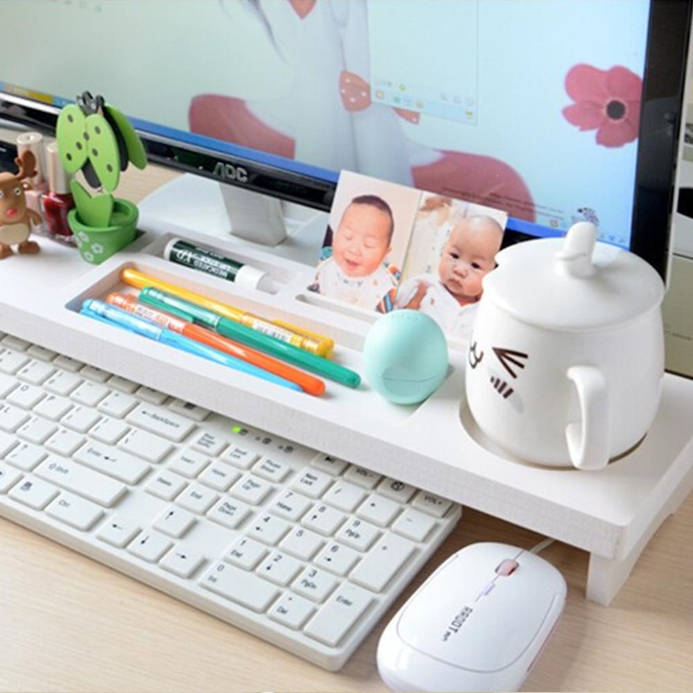White Keyboard Organizer Office Desktop Storage Pen Holder