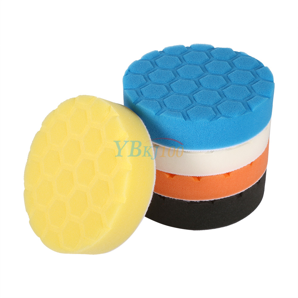 5Pcs 3/4/5/6/7 Inch Car Sponge Polishing Pad Buffing