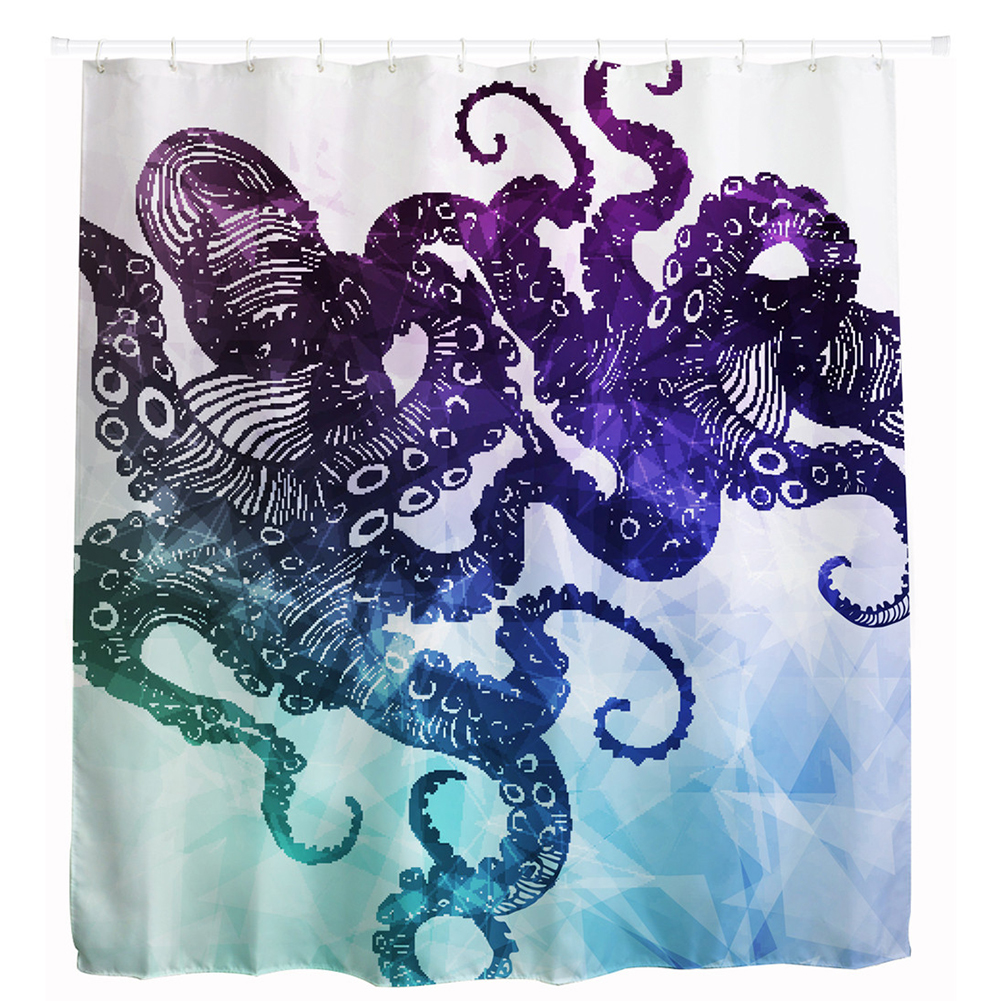 polyester wasserdicht duschvorhang badewannenvorhang octopus bad dekor 12 haken ebay. Black Bedroom Furniture Sets. Home Design Ideas