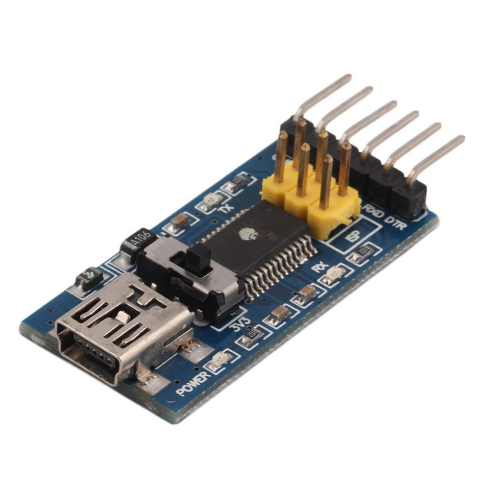 New basic breakout board for ftdi ft rl usb to serial ic