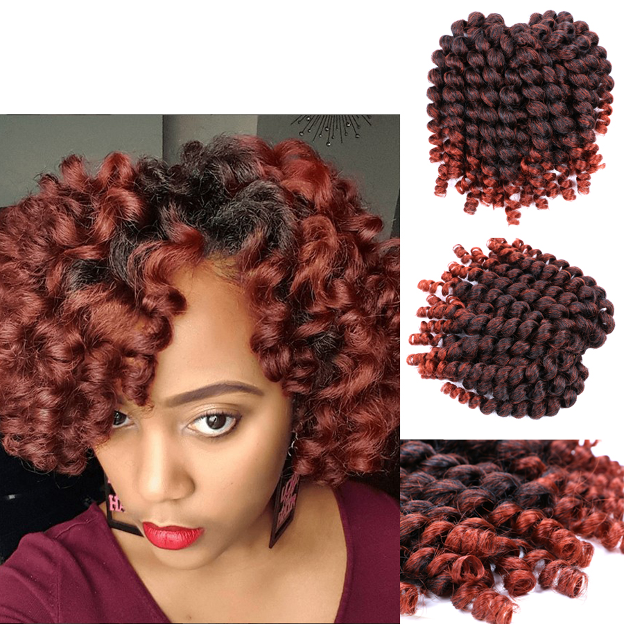 Ombre 1b 350 Synthetic Crochet Hair Jumpy Wand Curl