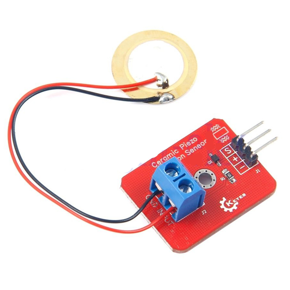 Analog Piezoelectricity Ceramic Piezo Vibration Sensor Module for Arduino