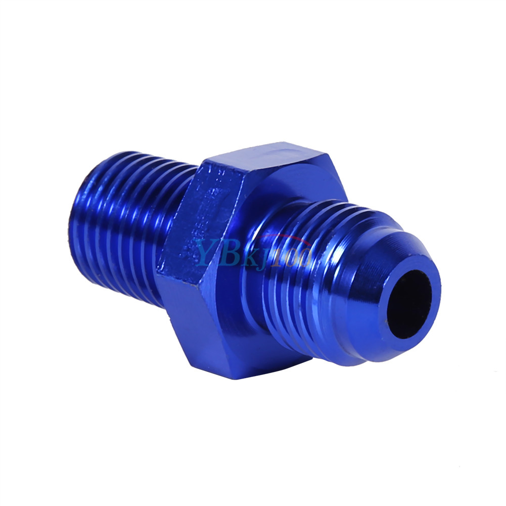 Aluminum an to quot npt straight adapter pipe fuel