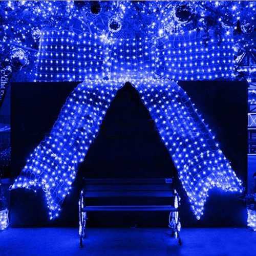 6x4m led lichterkette blau au en innen garten beleuchtung. Black Bedroom Furniture Sets. Home Design Ideas