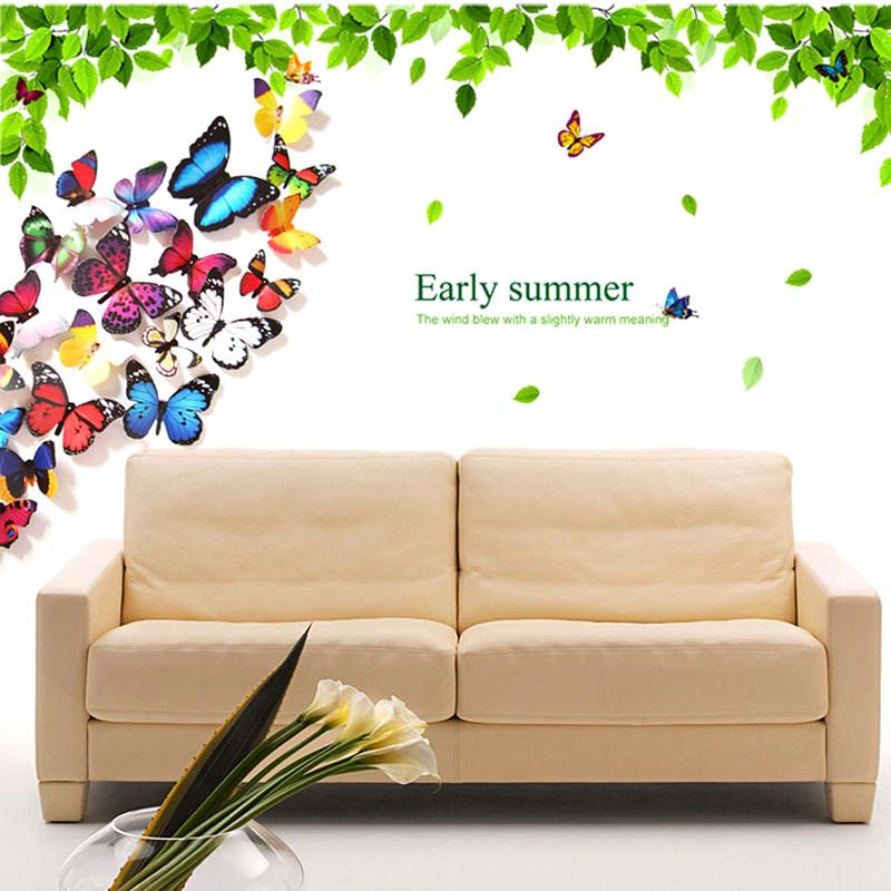 20stk set 3d schmetterlinge wandsticker wandtattoo deko wanddeko aufkleber neu ebay. Black Bedroom Furniture Sets. Home Design Ideas