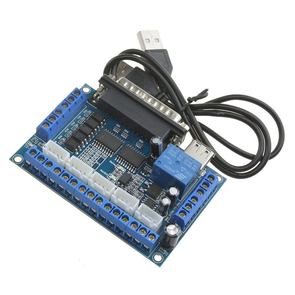 5 Axis Cnc Breakout Board With Optical Coupler For Stepper