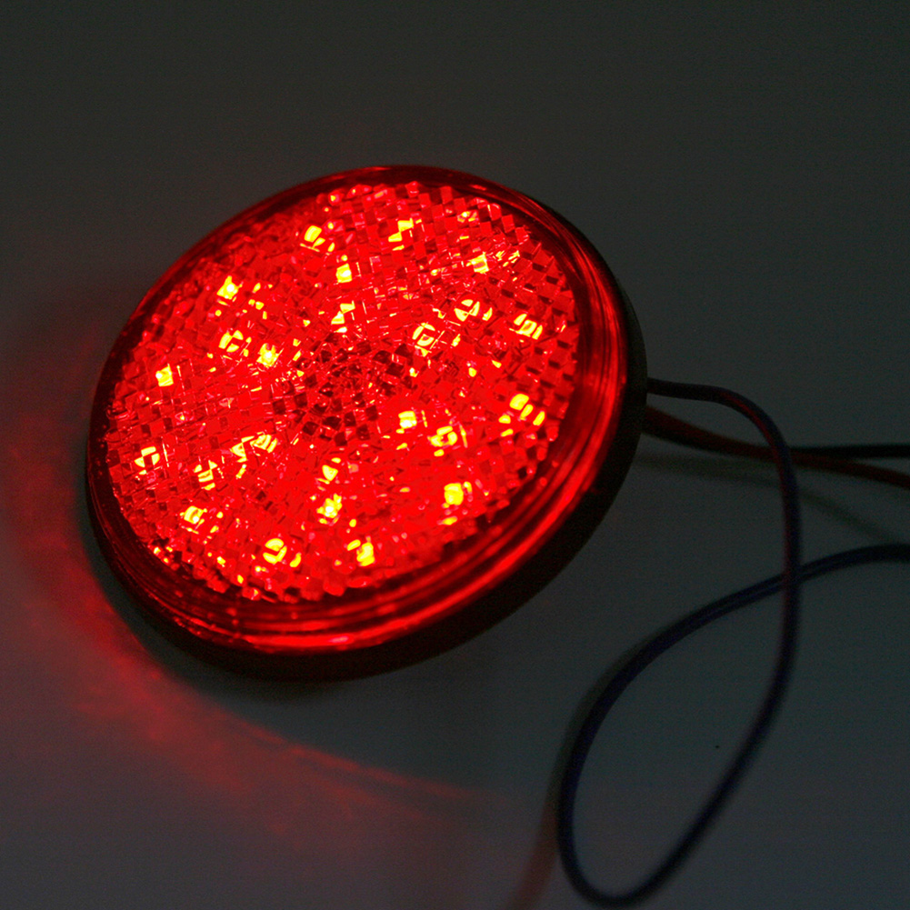 2pcs Led Red Motorcycle Round Reflector Tail Brake Turn Signal Light Lamp Bulbs Ebay