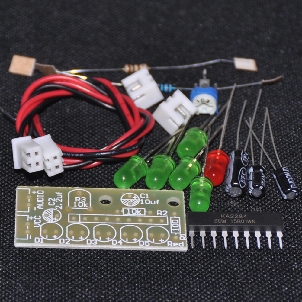 Ka2284 Audio Level Indicator Diy Electronic Kit Parts 35 12v 5mm Led Circuit Red Green