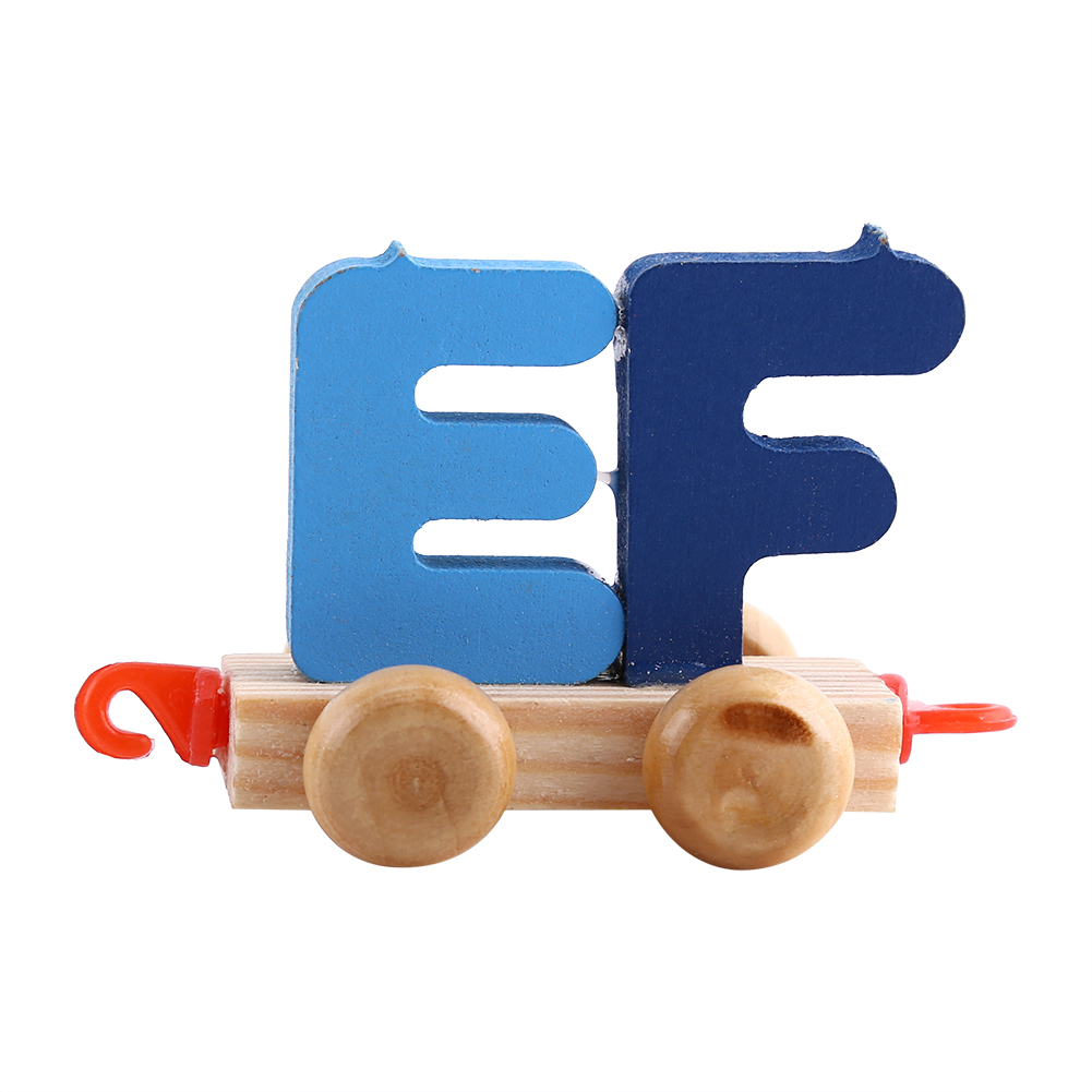 Wooden Toys For Pre School : Wooden train set alphabet wood letters preschool kids