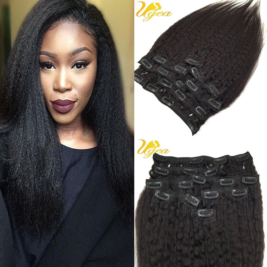 7A Kinky Curly Brazilian Virgin Clip in Human Hair ...