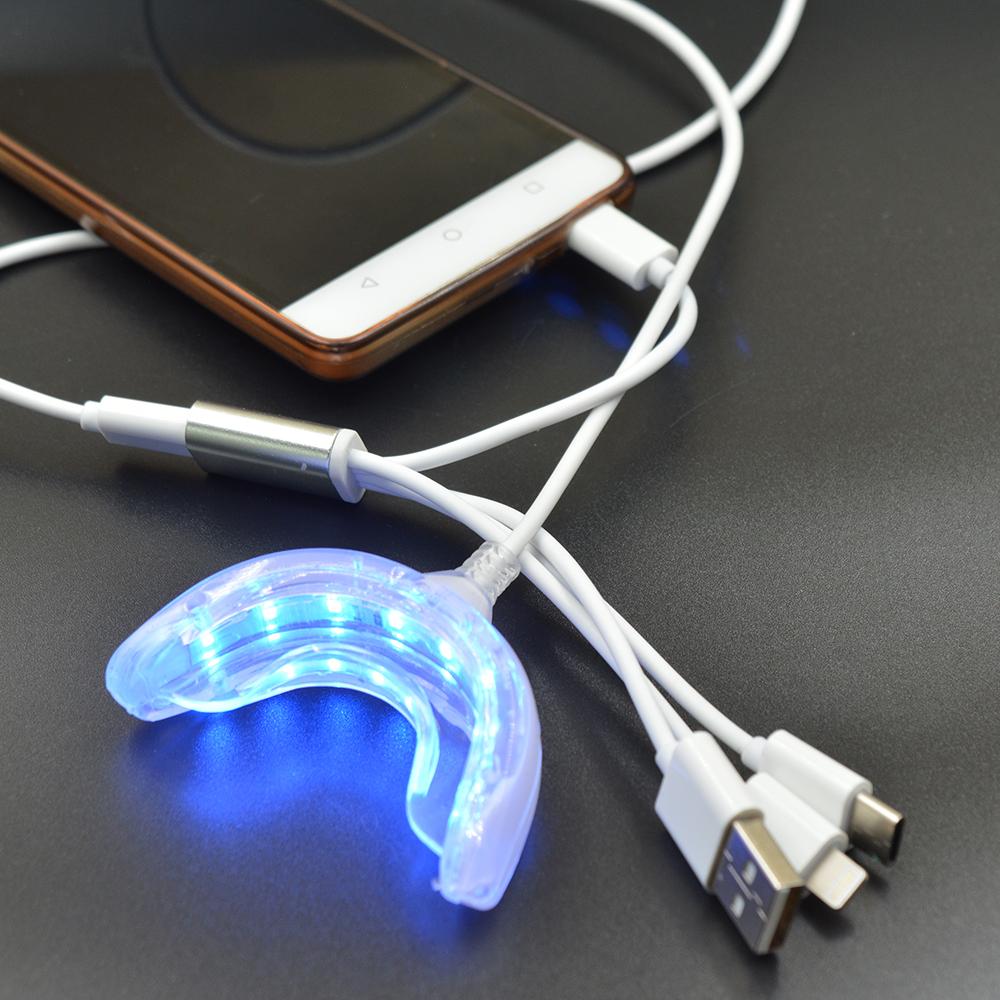 Home Teeth Whitening Light: Dental Whitening Instrument USB Charging 16 Blue LED