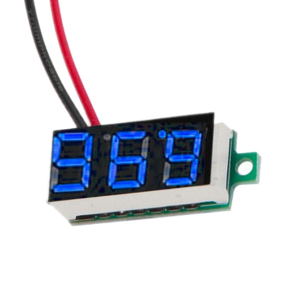 Line Powered Digital Voltmeter : Led dc v blue volt voltage meter display digital