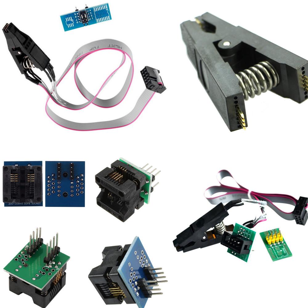 Oh Soic8 Sop8 Tes Ic Flash Chip Bios Adpter Klip Soket 24 25 93 Jepit Test Clip Eeprom Rom Soic Sop Programer Adapter Clips Socket Programmer Converter 150mil