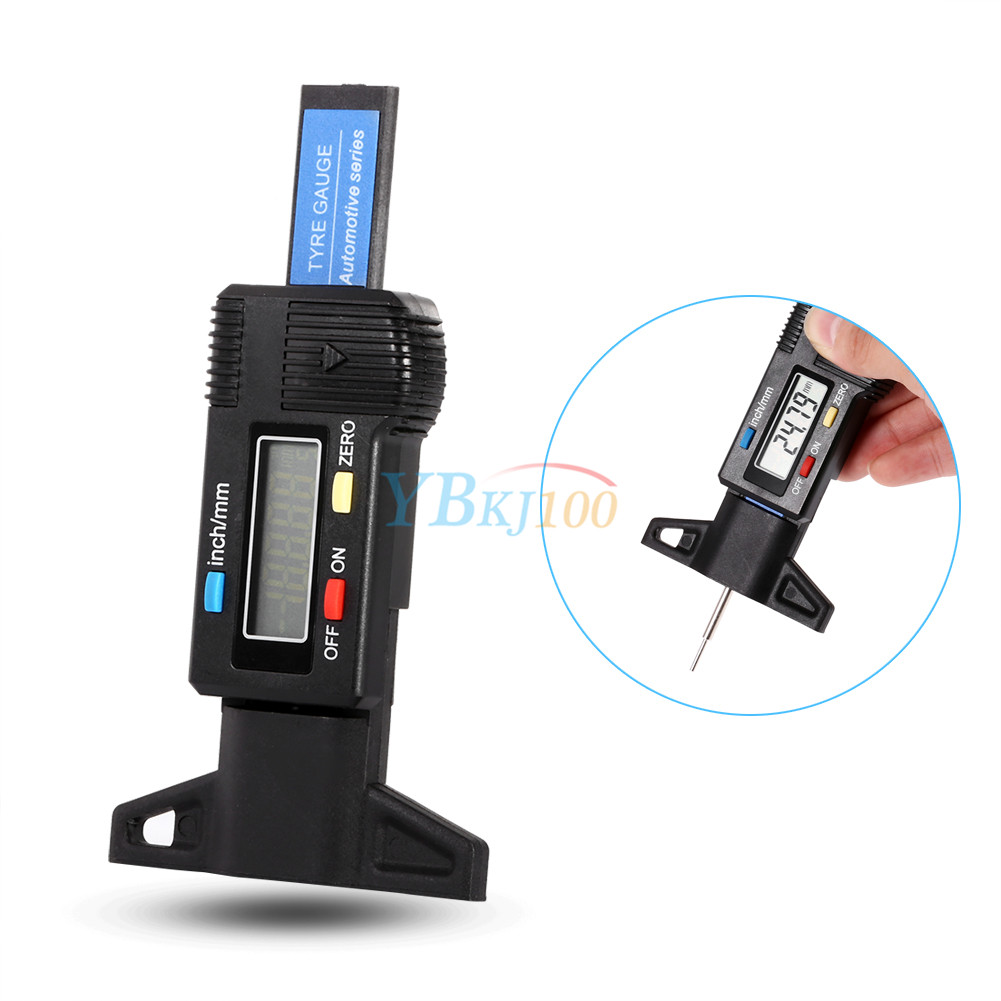 How Do You Measure Tread On A Tire >> Car Wheel Tyre Tread Depth Gauge Digital Meter Measurer Depth Gauge Tool 0-25mm | eBay