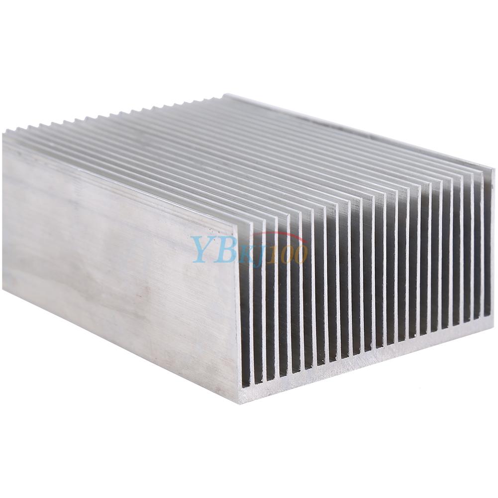 large aluminum heatsink heat sink radiator cooling fin fr ic led power amplifier ebay. Black Bedroom Furniture Sets. Home Design Ideas