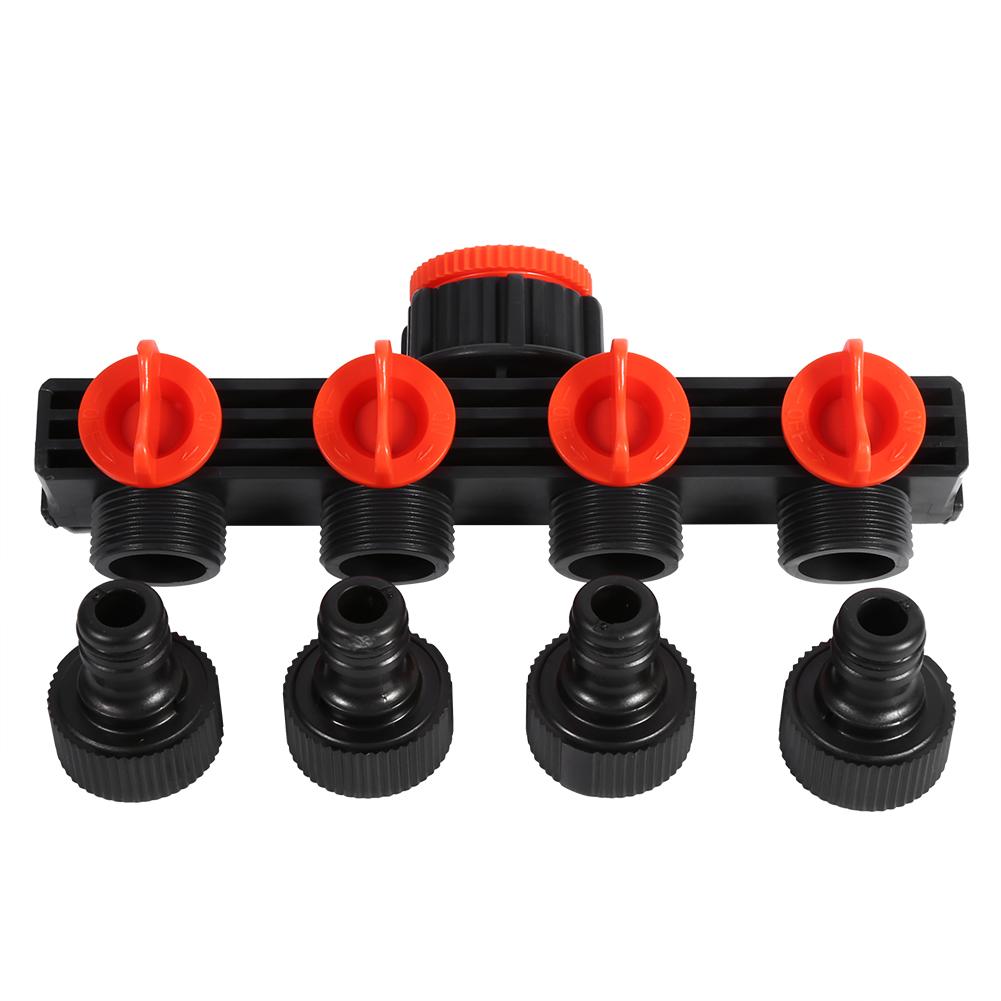 4 Way Garden Hose Pipe Splitter Water Connectors