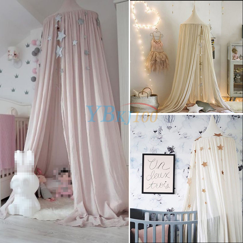 Kids Baby Bedding Round Dome Bed Canopy Netting Bedcover Mosquito Net Curtain Ebay