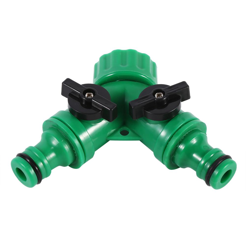 Quot way double garden tap hose adapter connector