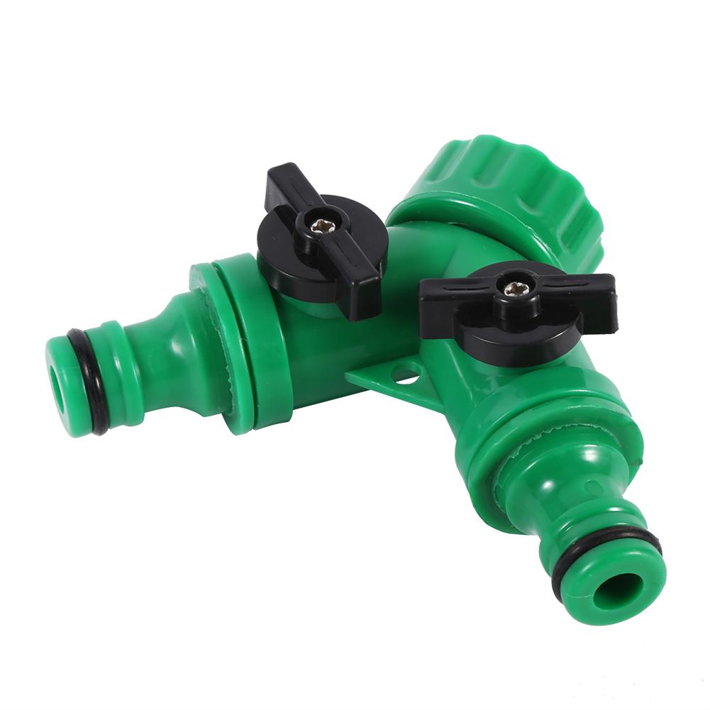 3 4 2 way double garden tap hose adapter connector. Black Bedroom Furniture Sets. Home Design Ideas
