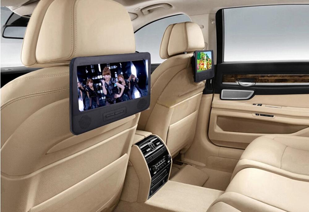 7 8 Quot Twin Screen Portable Dvd Player Car Headrest Dvd