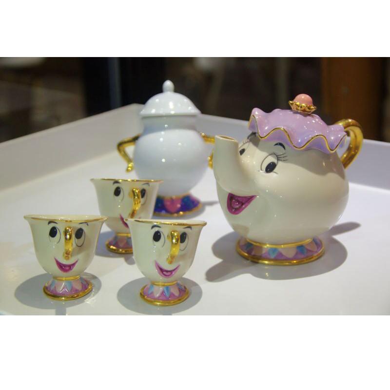 Beauty And The Beast Tea Set Mrs Potts Chip Teapot Cup
