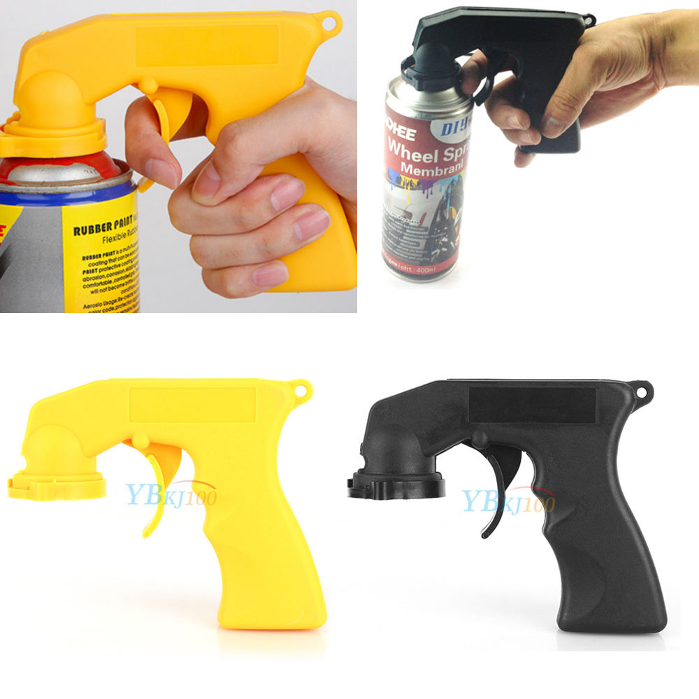 Plastic Spray Aerosol Painting Can Gun Handle Full Grip