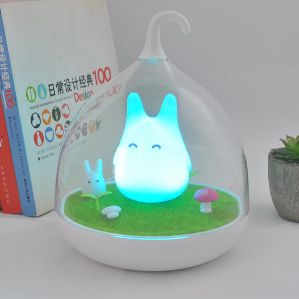 bewegliche totoro v gel ber hren sensor nachtlicht baby schlafenlampe ebay. Black Bedroom Furniture Sets. Home Design Ideas