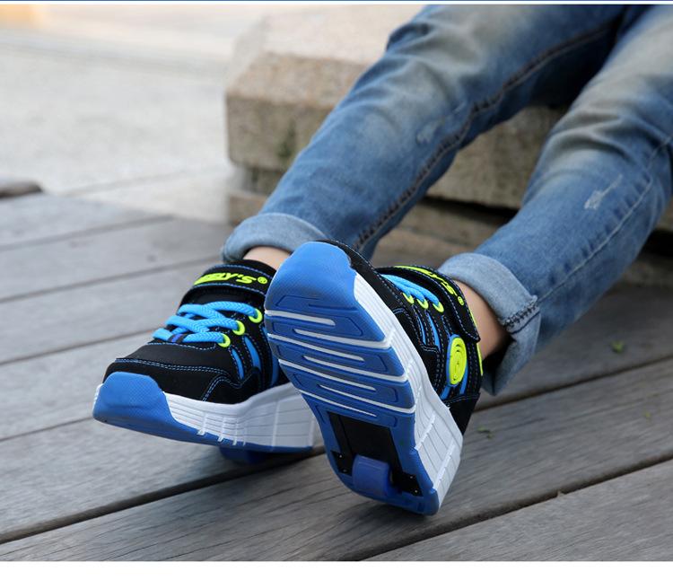 unisex led r der schuhe rollen farbwechsel sneakers kinder. Black Bedroom Furniture Sets. Home Design Ideas