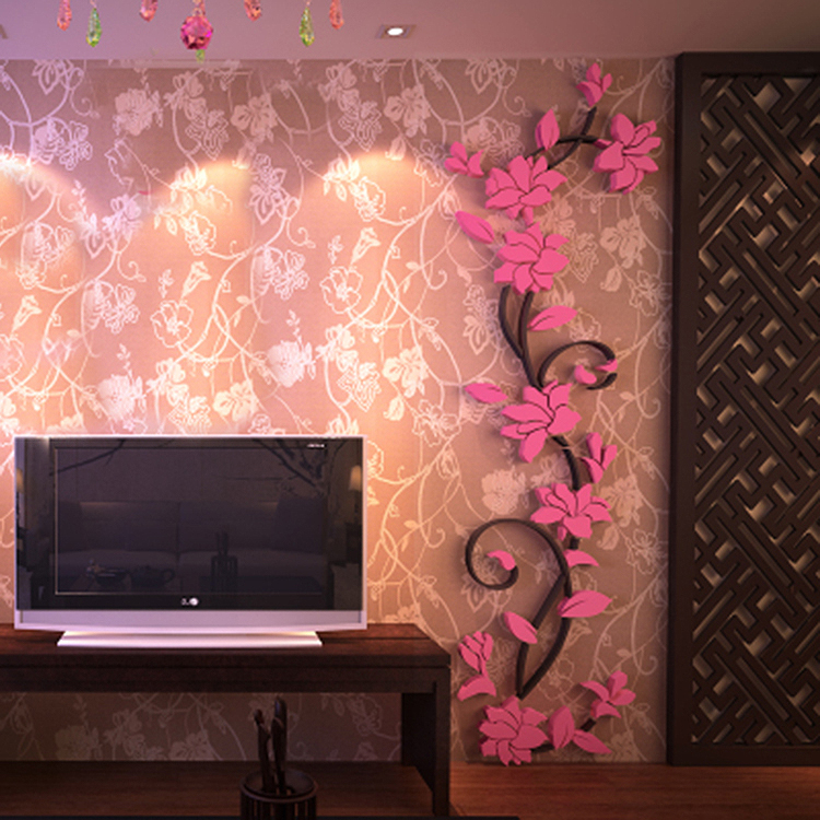 3D Flower Removable Vinyl Quote Diy Wall Sticker Decal Mural