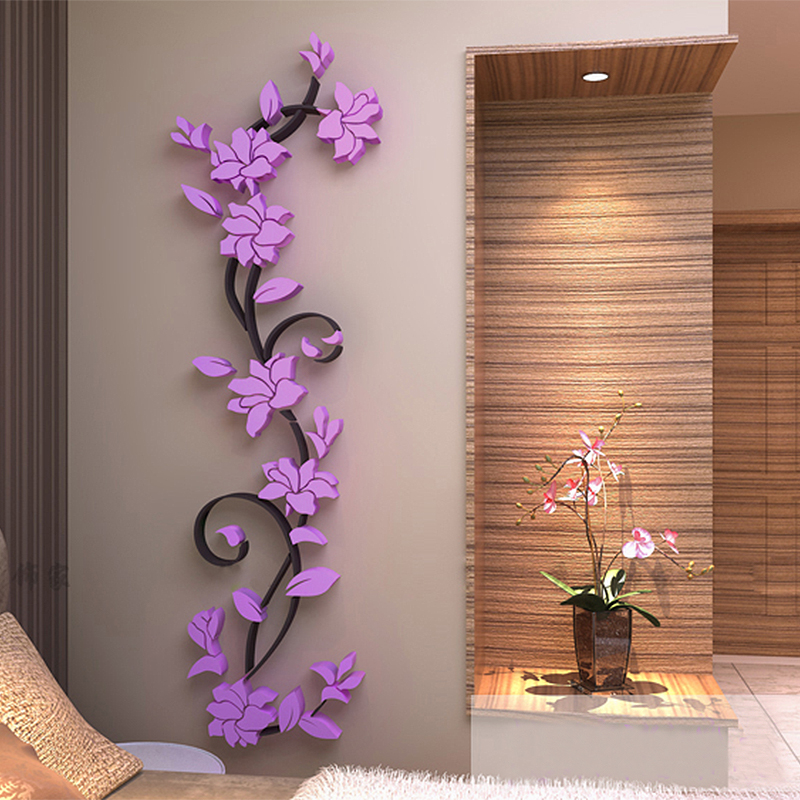 3d flower removable vinyl quote diy wall sticker decal mural homeroom decor ebay