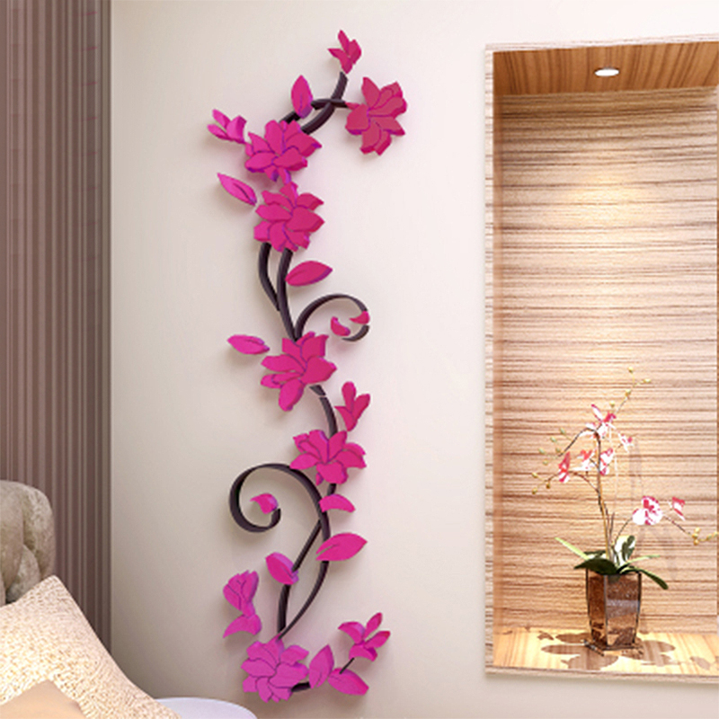 3D Flower Removable Vinyl Quote DIY Wall Sticker Decal Mural ...