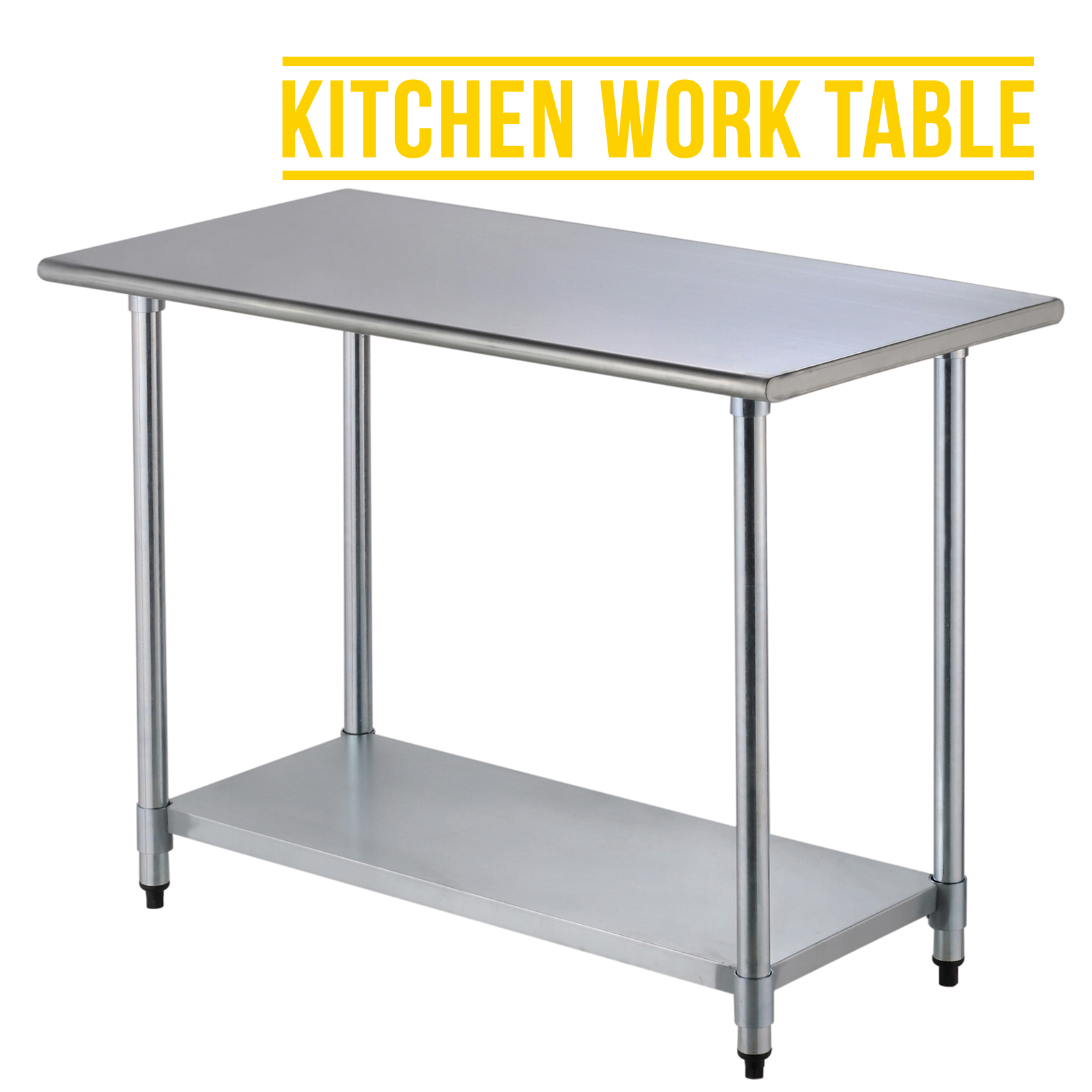 Superbe 2FT×4FT Commercial Stainless Steel Kitchen Work Prep Table Without  Backsplash