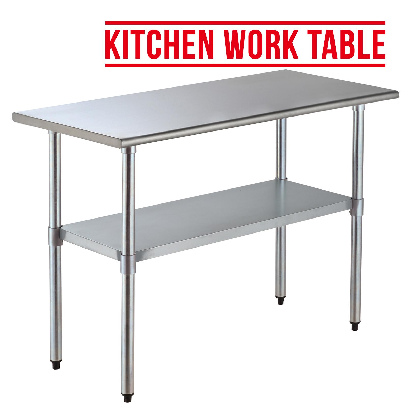 2ft 4ft Commercial Stainless Steel Kitchen Restaurant Work Prep Table Ebay