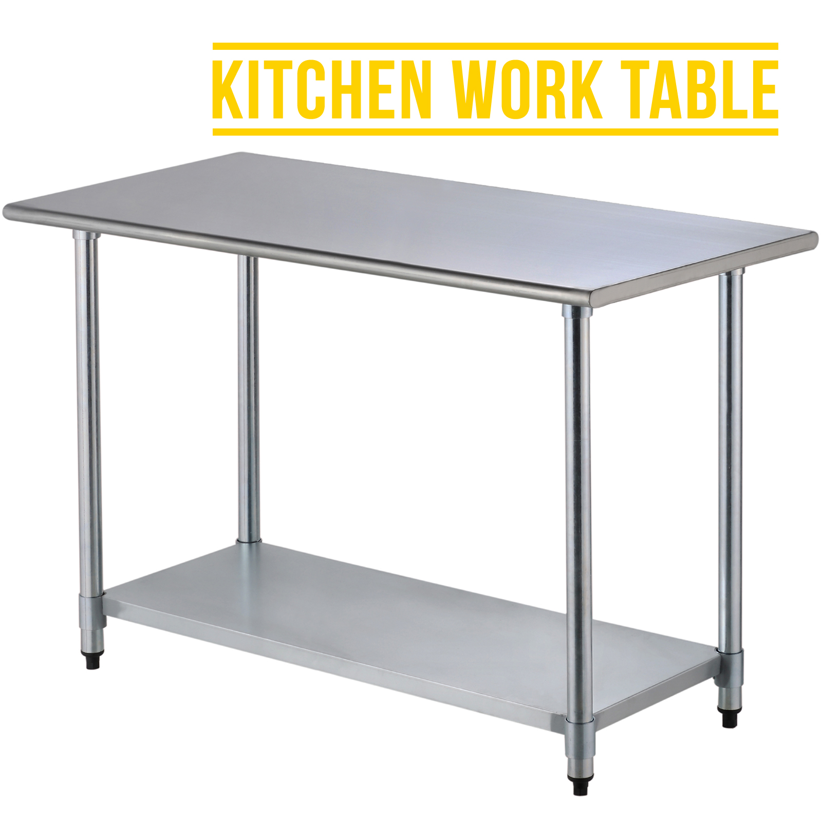 2ft 5ft commercial stainless steel kitchen restaurant work prep table ebay - Industrial kitchen table stainless steel ...