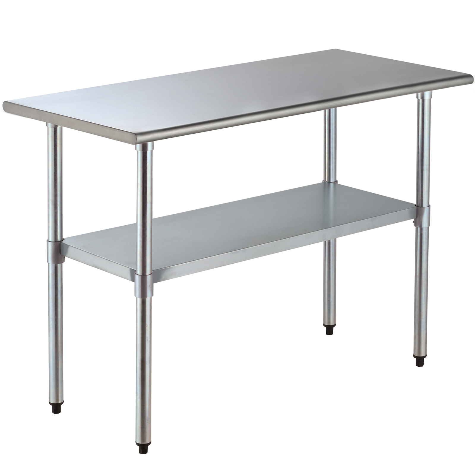 2FT×4FT Commercial Stainless Steel Kitchen Work Prep Table Without  Backsplash