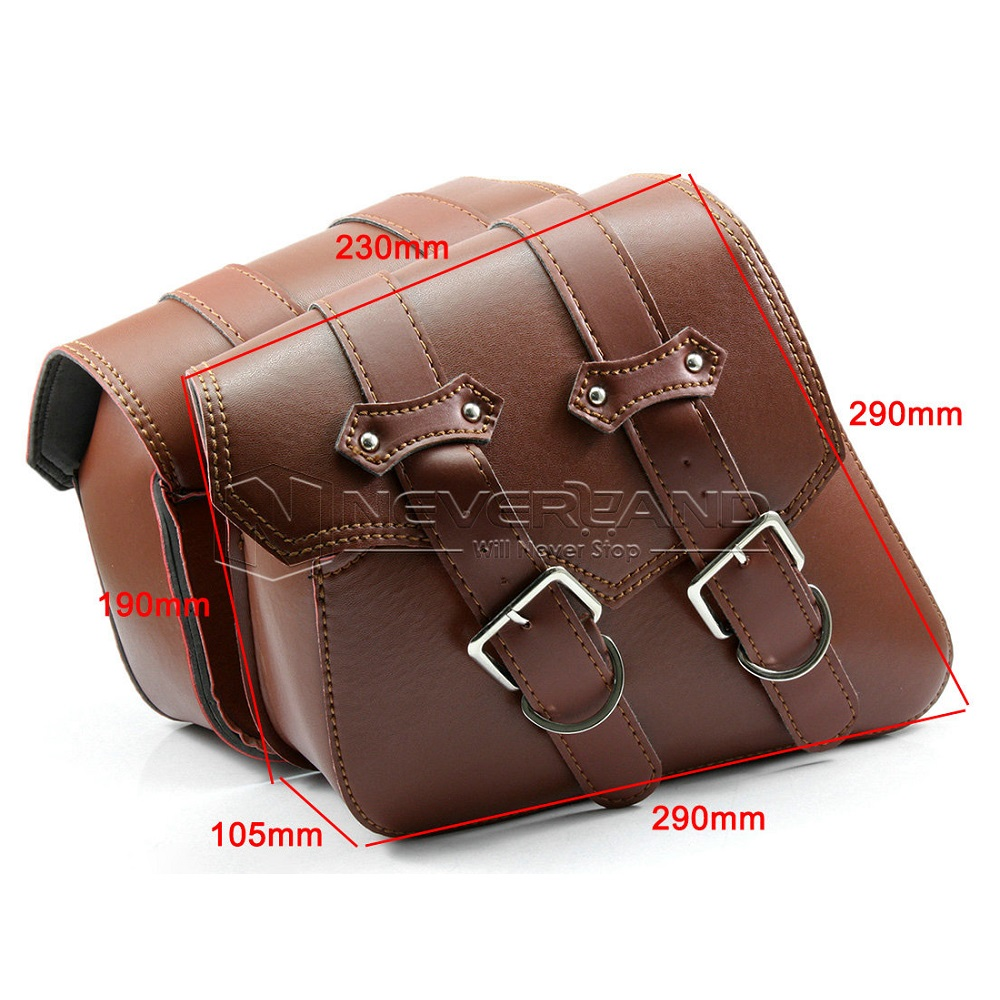 Motorcycle Pu Leather Side Bag Saddle Bags For Harley