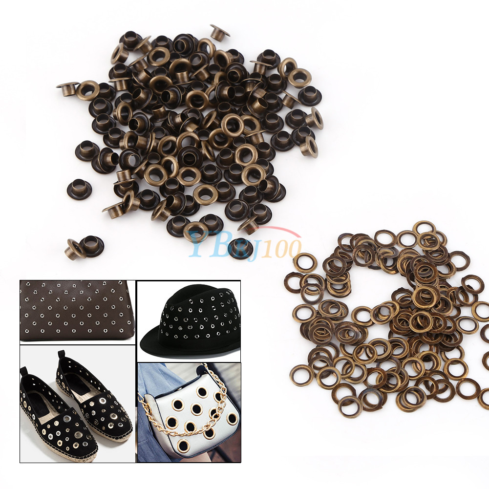 100pcs Metal Eyelets Grommets + Washers Set Leather Craft ...