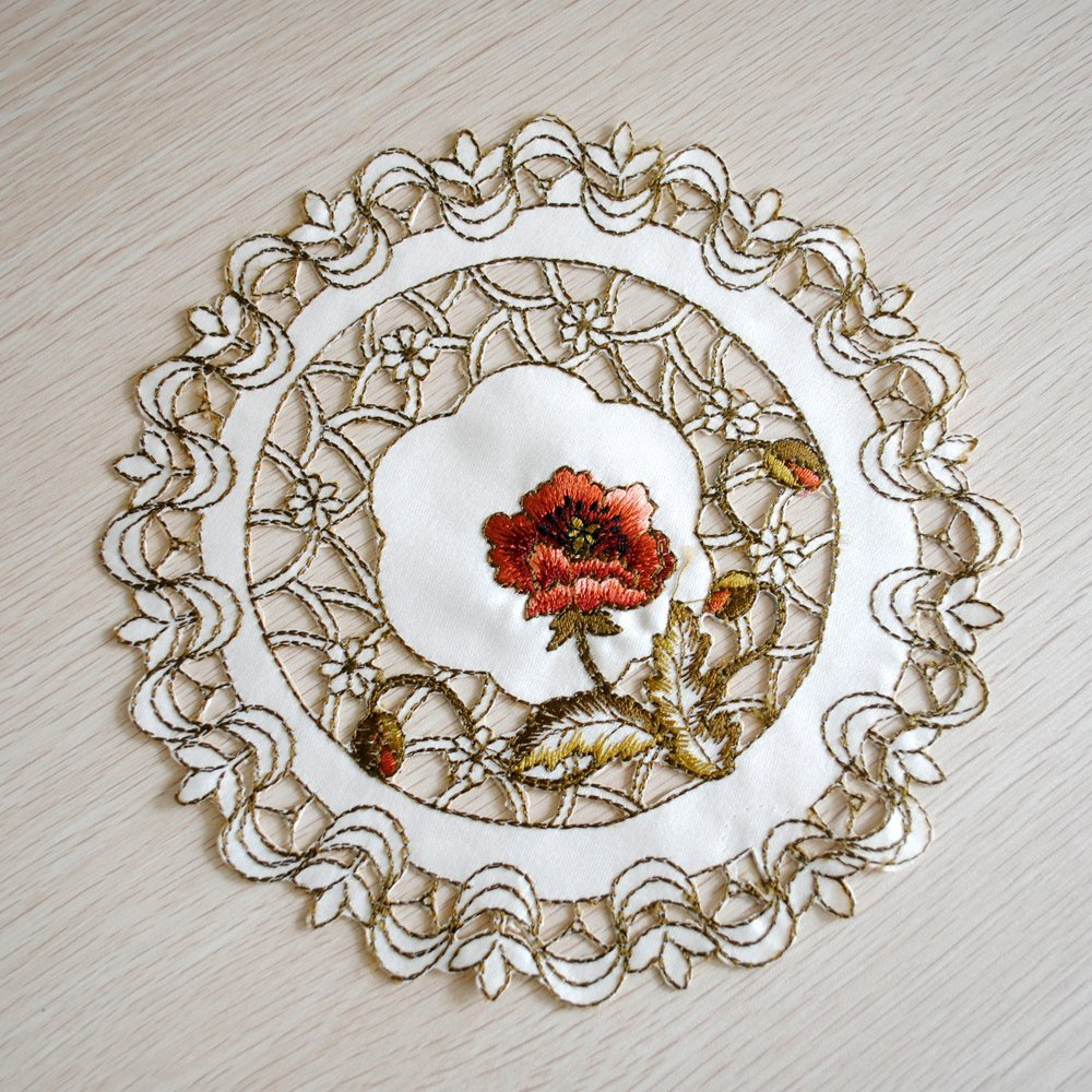 yazi-Round-Embroidered-Cutwork-Peony-Placemat-Doily-Table-Decor-Doilies-Gift
