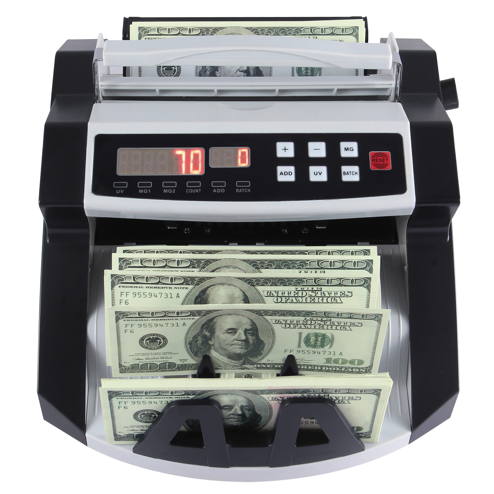 Money Bill Cash Counter Bank Currency Counting Machine UV ...