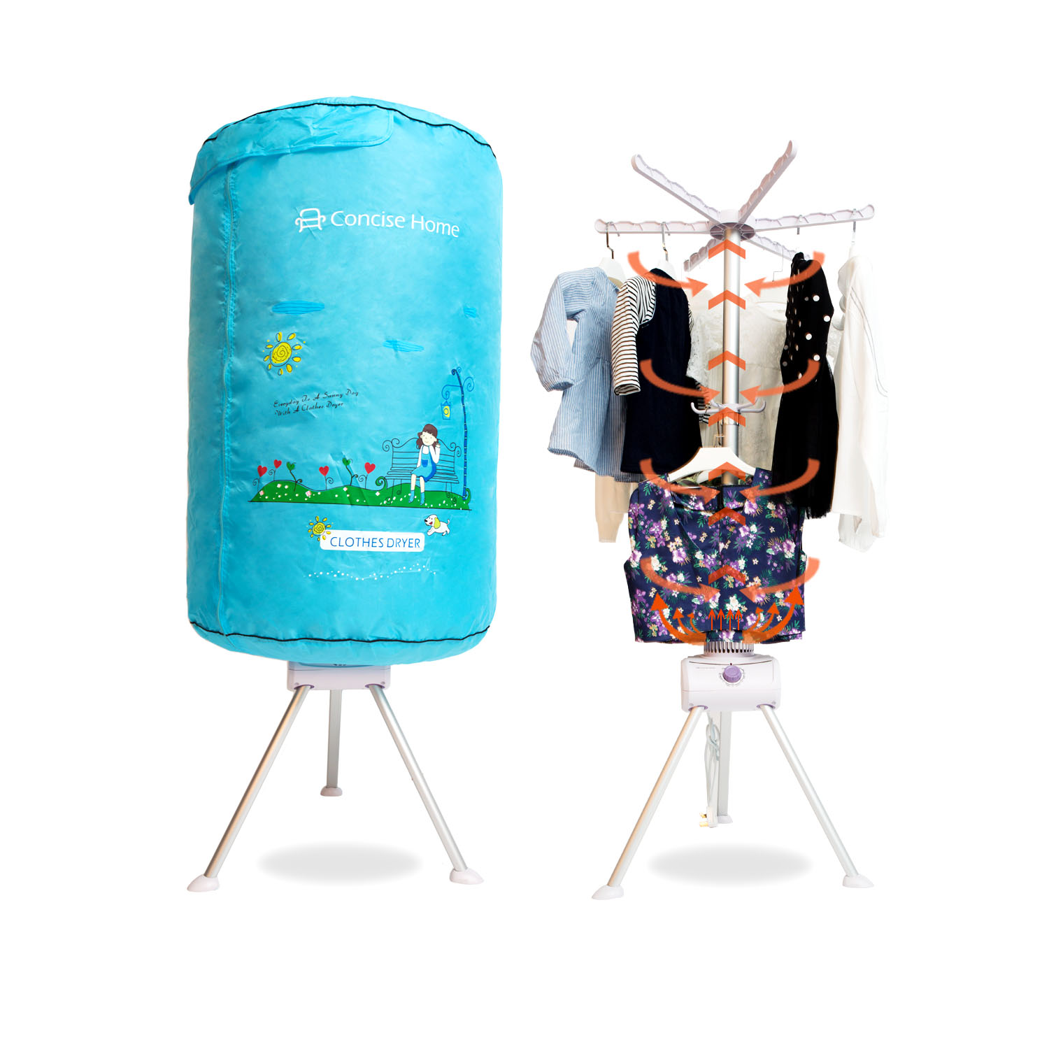 Concise Home Portable Electric Clothes Dryer Home Dorms